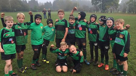 Beccles rugby club minis section hosted Swaffham rugby club and treated the huge contingency of spec