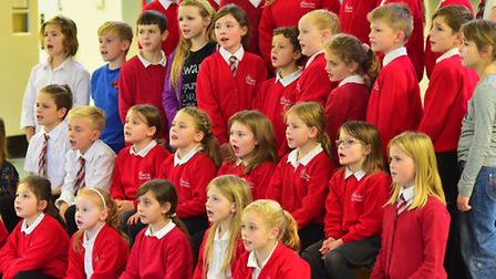 Beccles Primary Academy children in rehearsals for Children in Need concert at the Yarmouth Hippodro
