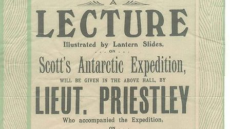 Poster of a lecture given 100 years ago, reproduced with permission of Beccles Museum.