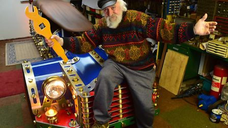 Derek Waghorn and his wife Sally Spelman have created a life sized car based on the childrens toy, M