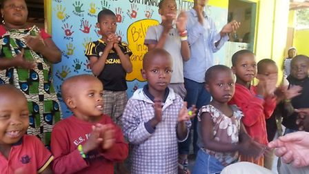 """The group visited an orphanage during their trip and said the children were """"incredible"""""""