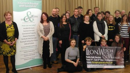 Lucas and Wyllys Solicitors partners with show director Julia Rymer and the cast of The Lion, the Wi