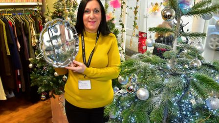 Beccles charity shop The Children's Society has won best dressed window. Sheryll Sayer, shop manager