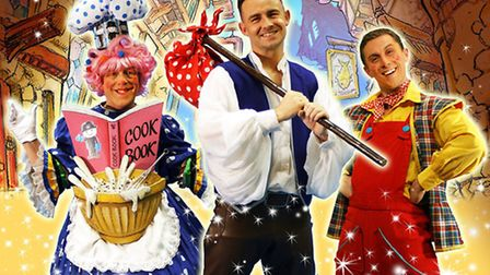 The Lowestoft Players will perform Dick Whittington and the Pirate Adventure. From L-R: Dame Mary Ro