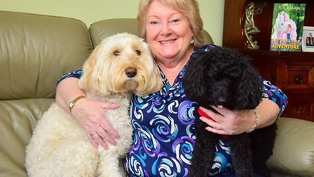 Valerie Rogers from Ellingham has just published her first book. Valerie with her dogs Muttley and B