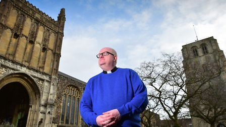 Rev Rich Henderson outside St Michael's Church in Beccles.