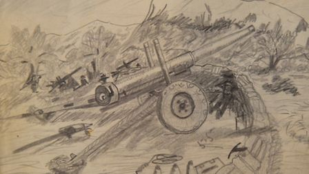 One of the sketches by Edward Smith.