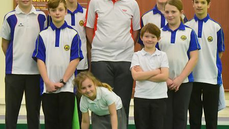 Some of the junior members at Beccles Indoor Bowls Club. Picture: Nick Butcher