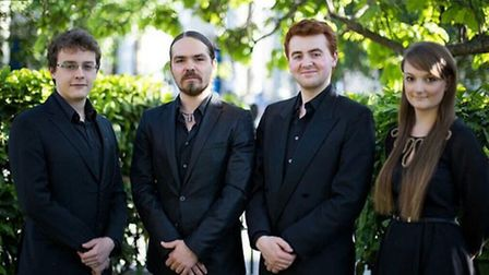 The Fitzroy Quartet, who are performing in Halesworth
