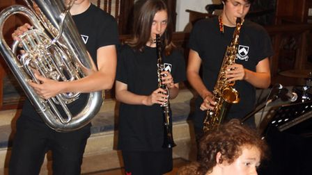 Bungay High School pupils performing at last year's 450th anniversary concert held as part of Bungay
