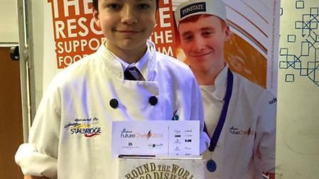 Bungay High School pupil Oliver Patrick who is through to the regional final of the Future Chef Comp