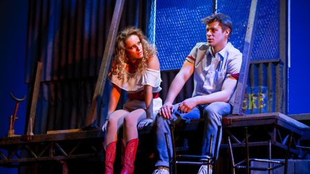 Hannah Price and Ariel Moore in Footloose. Picture: Matt Martin