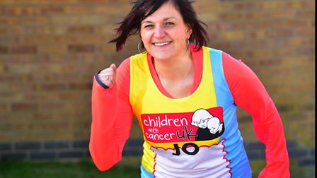 Jo Andrews fom Beccles is running the London Marathon for Children with Cancer UK. PHOTO: Nick Butch