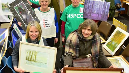 The Beccles branch of the NSPCC have held a charity art auction. PHOTO: Nick Butcher
