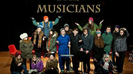 The cast of The Musicians from the Fisher Youth Theatre Group in Bungay who will be performing at No