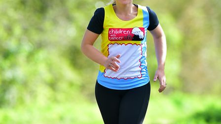 Rebecca Mayhew, a breast cancer survivor, who is preparing for a trio of challenges. PHOTO: Nick But