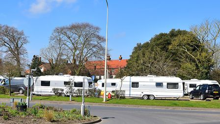 Travellers have moved onto the Angel Link car park in Halesworth. PHOTO: Nick Butcher