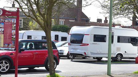 Travellers have parked up on Scales Street carpark in Bungay. PHOTO: Nick Butcher
