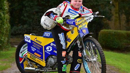 Speedway and grass track rider Danny Curl,11, from Raveningham near Beccles has been selected to be