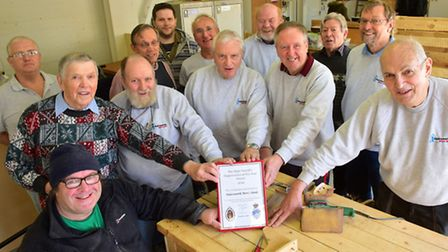 Halesworth Men's Shed has been commended by the High Sheriff of Suffolk PHOTO: Nick Butcher
