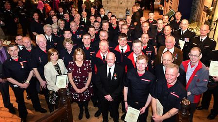 Norfolk Fire and Rescue Service Awards 2016. The award recipients.Picture: ANTONY KELLY