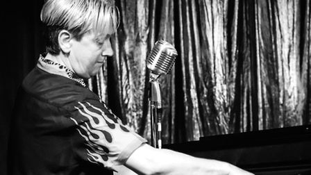Peter Gill at the Public Hall last June when he performed his Jerry Lee Lewis tribute.