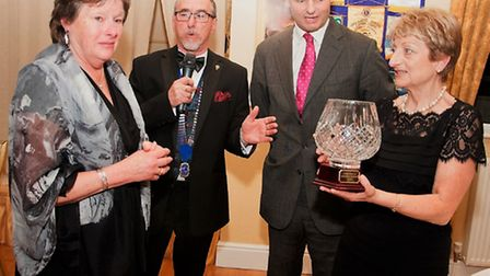 Christine Pinsent, Lion President Keith Moore, Peter Aldous MP and Mandy Holmes at the first annual