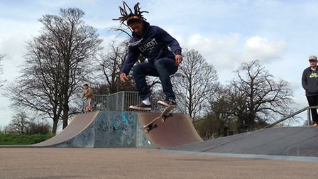 Skaters raised £100 taking part in a competition at Beccles Skatepark on Common Lane