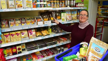 Deb Nash from Kirby Cane Post Ofice Stores is selling gluten free and dairy fre products in the shop