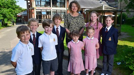 Veronica Short in the new headteacher of St Benet's and St Edmund's primary school. PHOTO: Nick Butc