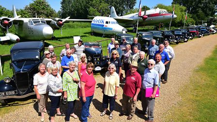 Members of the Ford Y and C Model Register at the Norfolk and Suffolk Aviation Museum in Flixton dur