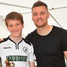 Beccles Town Youth football club annual presentation day along with games. Derby County footballer