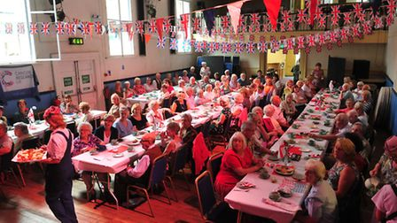 The 1940s themed afternoon tea at the Public Hall, held by the Beccles Friends of Cancer Research UK