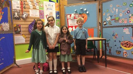 Amelia, Arietty and Madeleine Goodwin with Jack Corman getting ready for the launch of the Summer Re