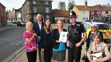 PC Simon Green meets supporters of Beccles Community Speed Watch.PHOTO: Nick Butcher