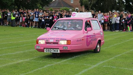 Sir John Leman High School pupils and staff took part in a run for Cancer Research UK