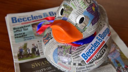 The Beccles and Bungay Journal duck is now ready for the Bungay Duck Race. PHOTO: Nick Butcher
