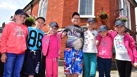 Children from Chernobyl visting Beccles Town Hall as part of their trip to Norfolk and Suffolk. PHOT