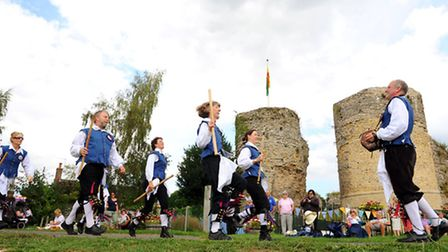 Rumburgh Morris performing in front of the castle at a previous Bungay Festival. Picture: James Bass