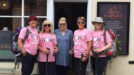 From left, Paula Allan, Kim Robertson, Sue Hellman and Benita Ogg from the Beccles Breast Cancer Now