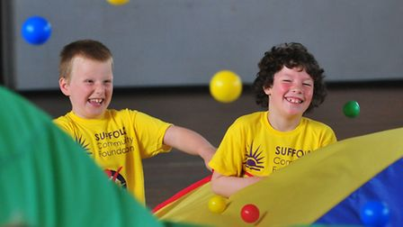 Disabled children from schools across the Lowestoft and Beccles area taking part in a Panathlon even