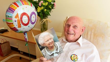 Douglas Huke who is celebrating his 100th birthday.Picture: James Bass