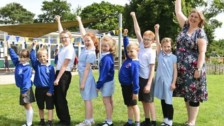 Ringsfield Primary School has been rated Oustanding in a recent inspection. Headteacher Vicky Allen
