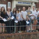 Bungay Sixth Form students celebrate great A-level results.PHOTO: Nick Butcher