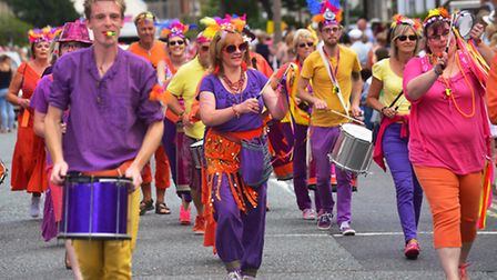 Last year's Beccles Carnival parade.