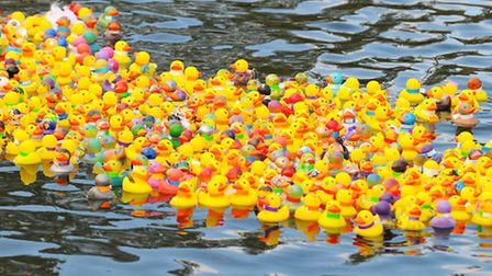 A previous Beccles Duck Race. PICTURE: James Bass