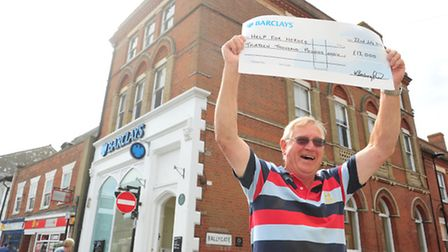 Help For Heroes fundraiser, David Brown with a cheque for £13,000.PHOTO: Nick Butcher