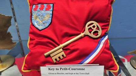 The key to Petit-Couronne which features in the exhibition.