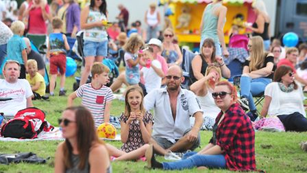 Crowds enjoying the music at the Beccles Harvest Moon festival. PHOTO: Nick Butcher