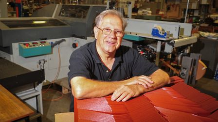 CPI William Clowes employee Mickey Cook has worked at the printing company for 50 years. PHOTO: Nick